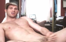 Sexy hunk solo on webcam