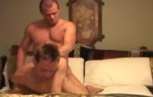 Sexy stud barebacks his lover