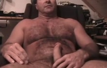 Sexy daddy stroking his dick
