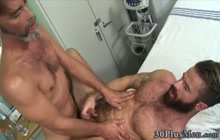 Masturbating stud nailed and spermed