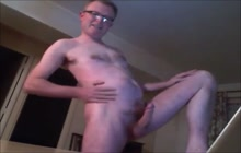 Horny daddy stroking his dick on webcam