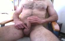 Hairy Daddy Solo Masturbates