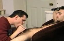 Amateur gay blowjob