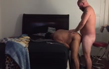 Horny bear couple makes private video