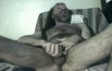 Horny older guy masturbates solo
