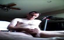 Horny daddy cumming on the floor
