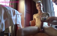 Big cocked guy cums 3 times