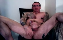 Tattooed muscled guy solo