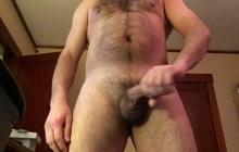 Naughty gay dude jacking off on webcam